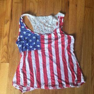 American flag design tee.